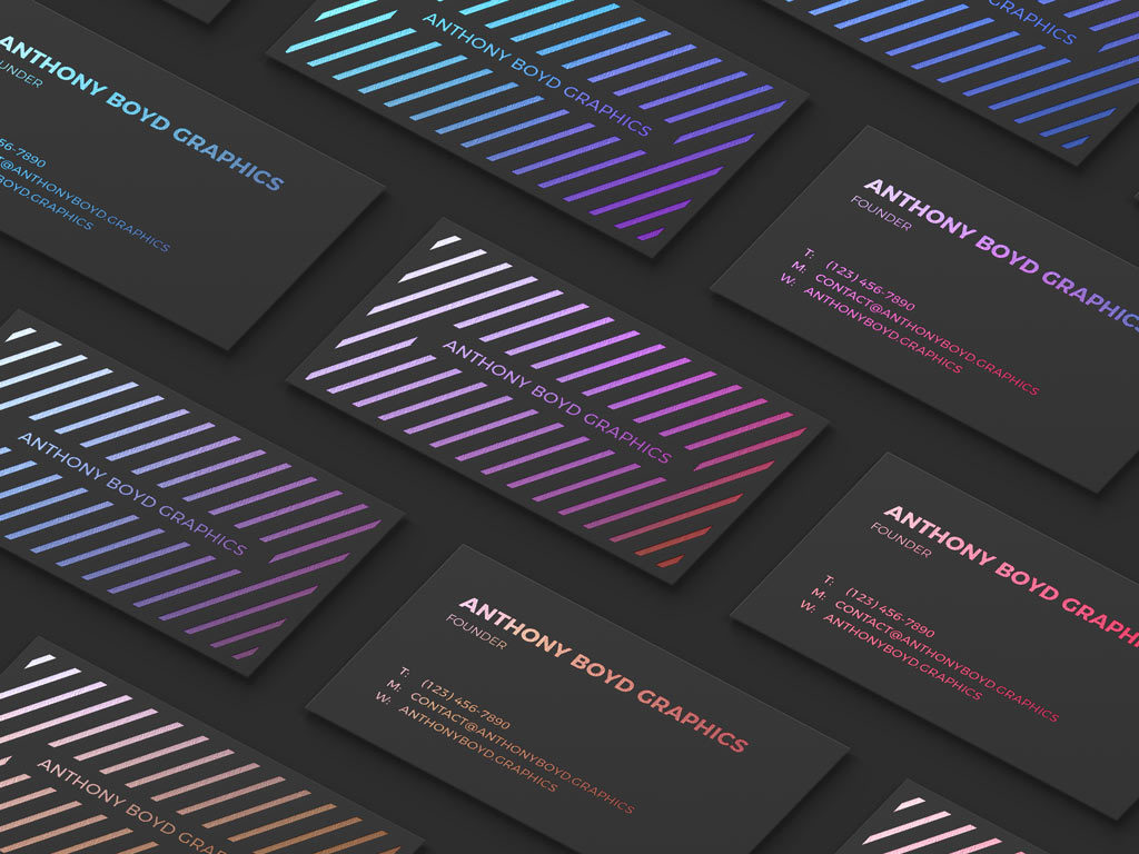 Modern Business Card Grid Showcase Free Mockup