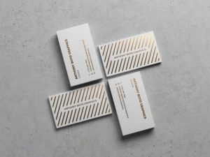 Modern Business Cards Showcasing Free Mockup