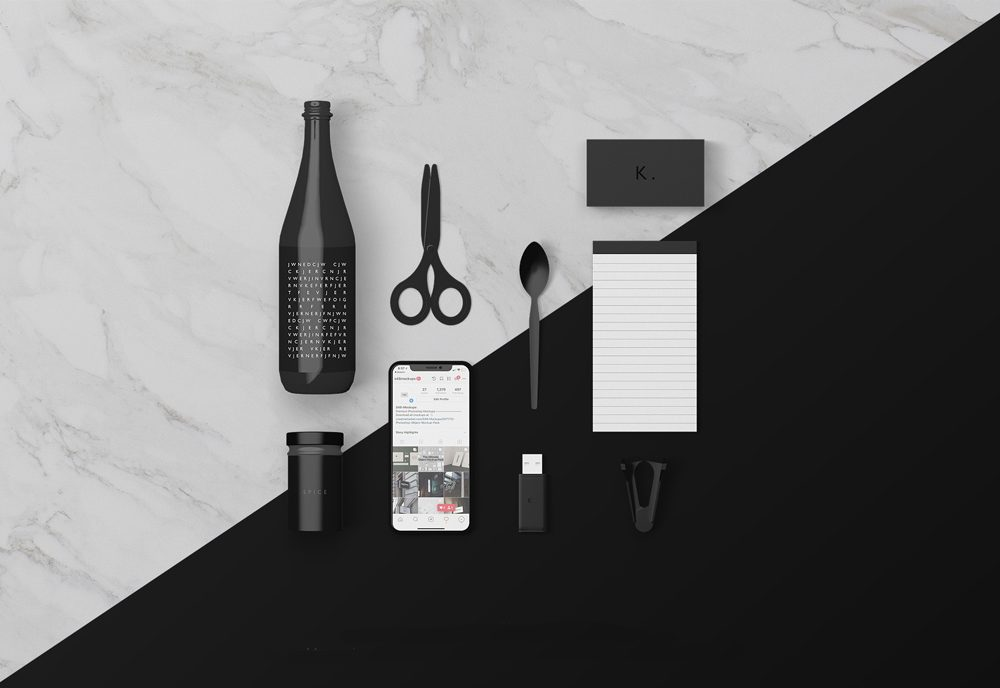 Various Desk Objects Free Mockup