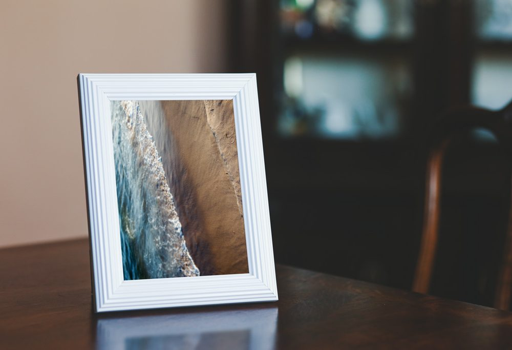 Small Photo in Wooden Frame Free Mockup