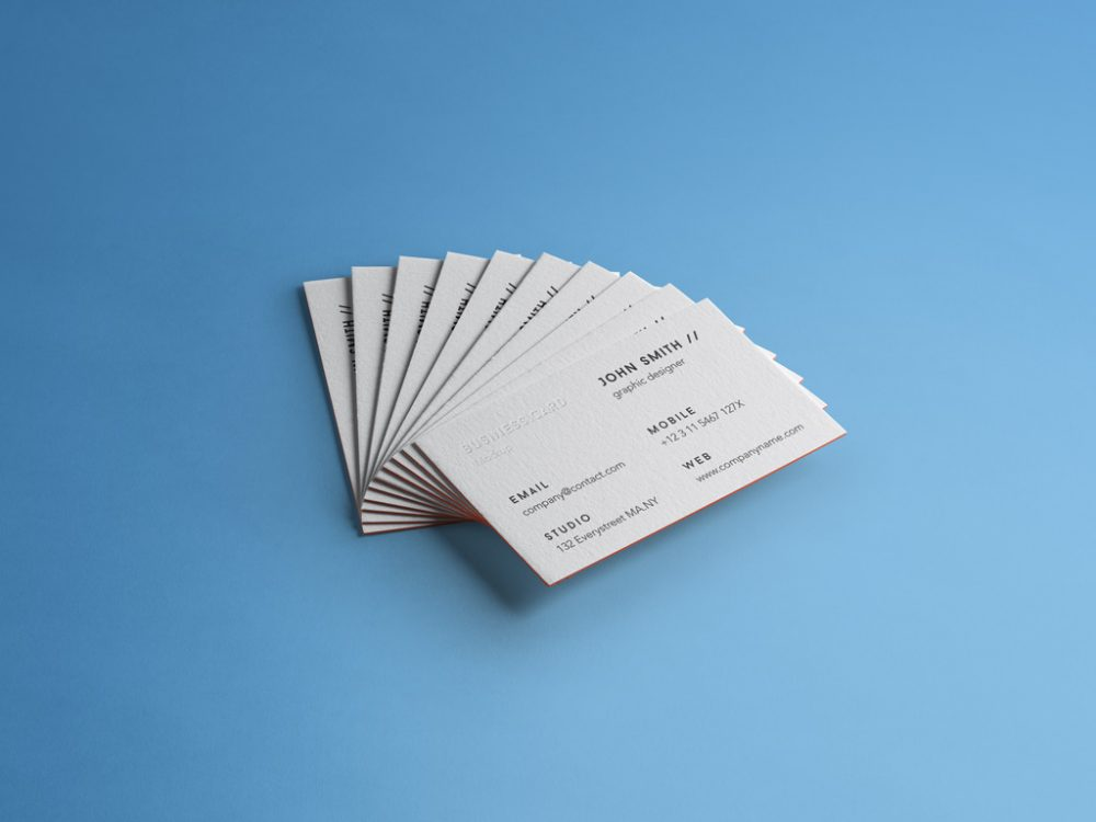 Business Cards Stack Free Mockup