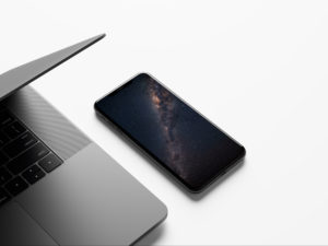MacBook and iPhone XS Max