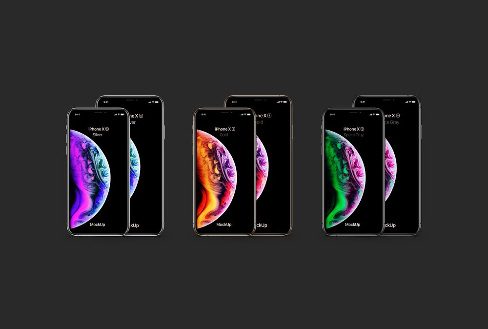 iPhone XS and iPhone XS Max free PSD