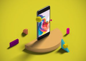 Isometric iPhone with Shapes