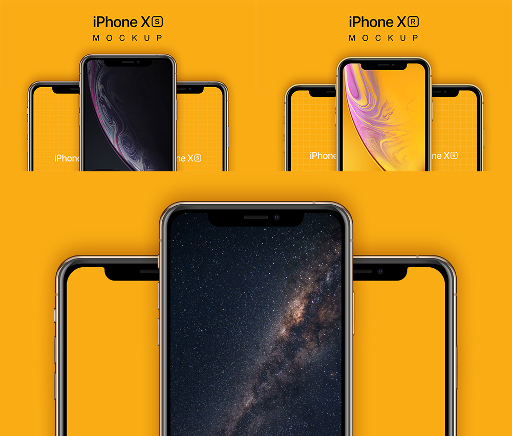 iPhone XS and XR Mockups