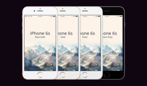 Set of clean iPhone 6s free PSD