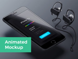 Animated iPhone 7 free PSD