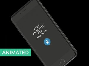 Animated black iPhone free PSD