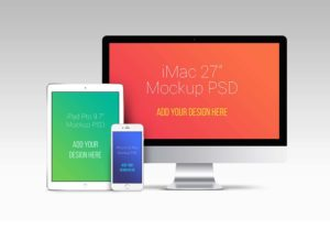 Huge Apple Devices Bundle  free PSD