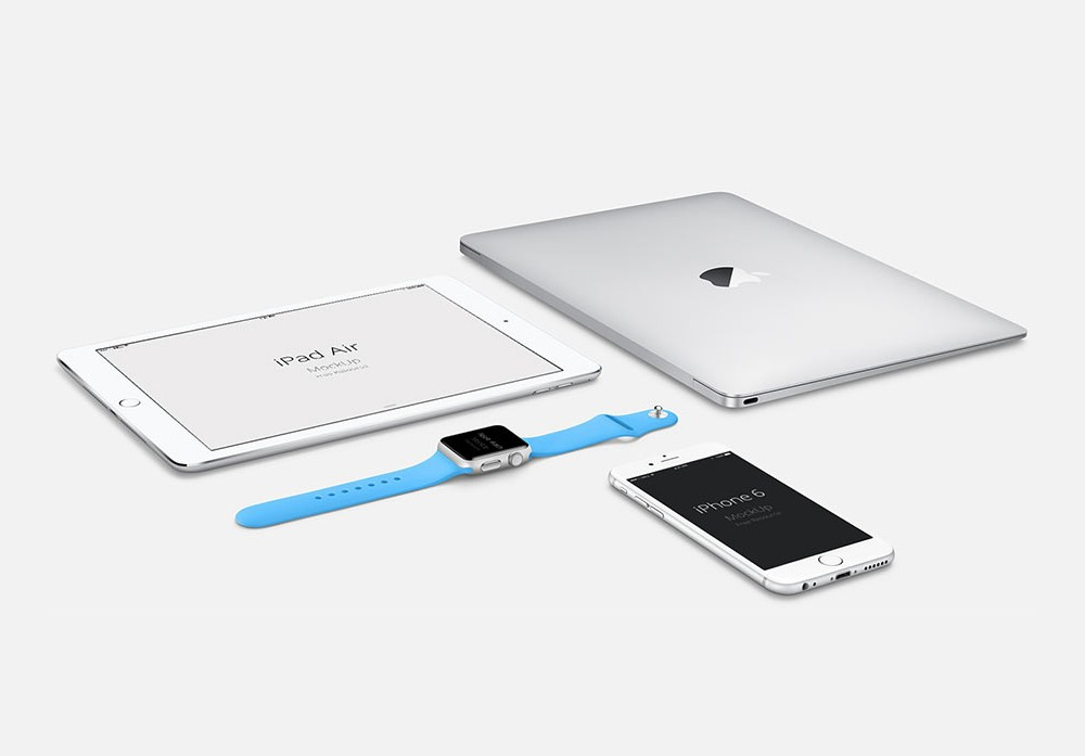 Set of Apple Devices free PSD