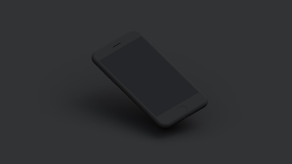 Set of dark matte iPhone free PSD