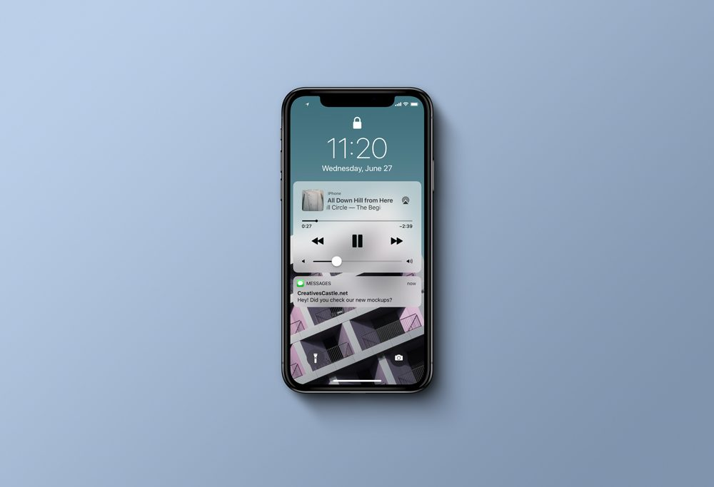 iPhone X (Top View) free PSD