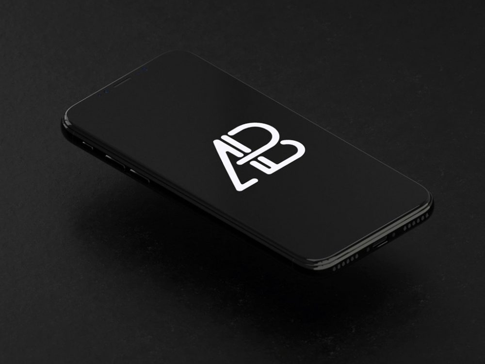 Animated floating iPhone X free PSD