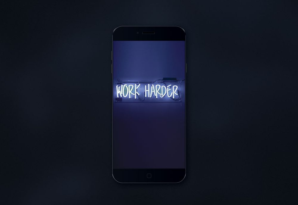 Fully layered black iPhone free PSD