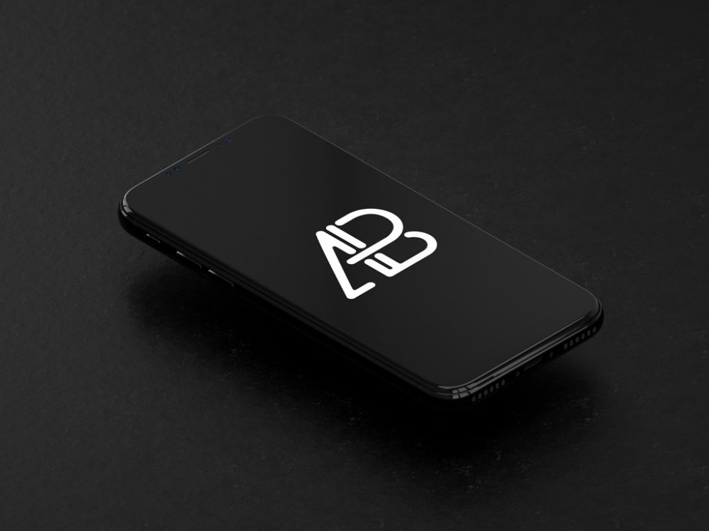 Floating iPhone X free PSD