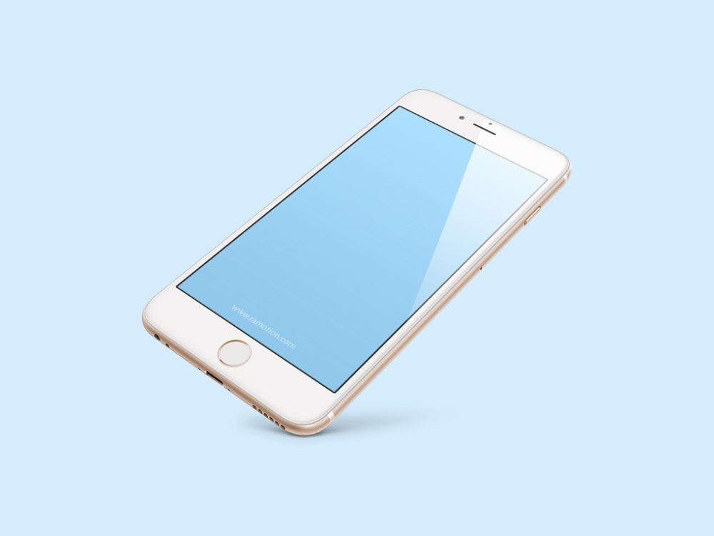 Floating white iPhone 8 free PSD