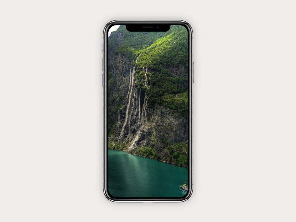 Simple iPhone X free PSD