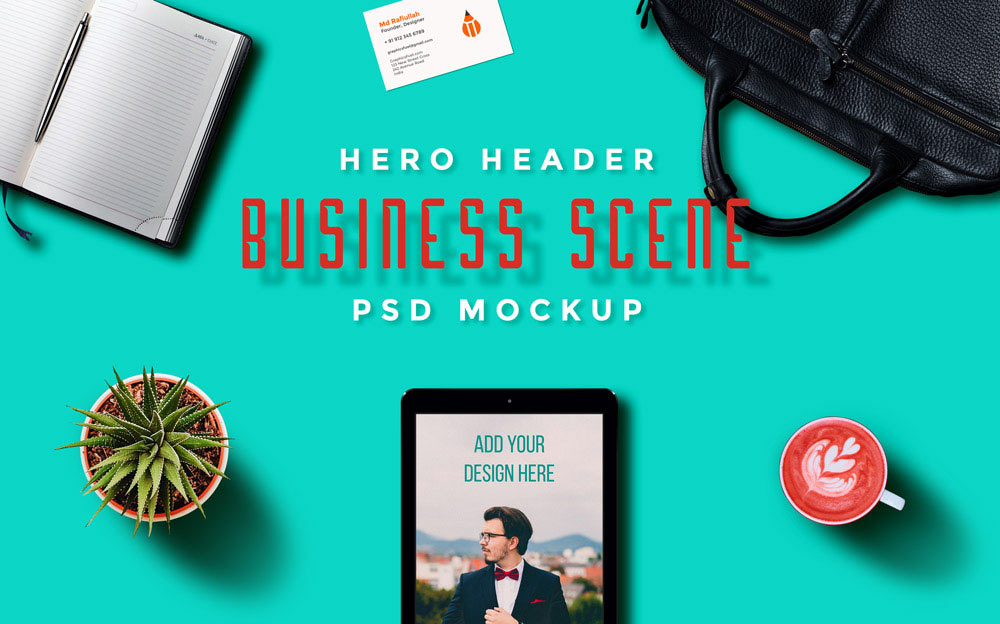 Set of Hero Image Scenes free PSD