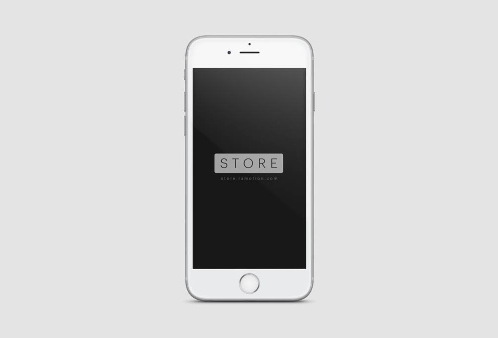 Frontal View white iPhone free PSD