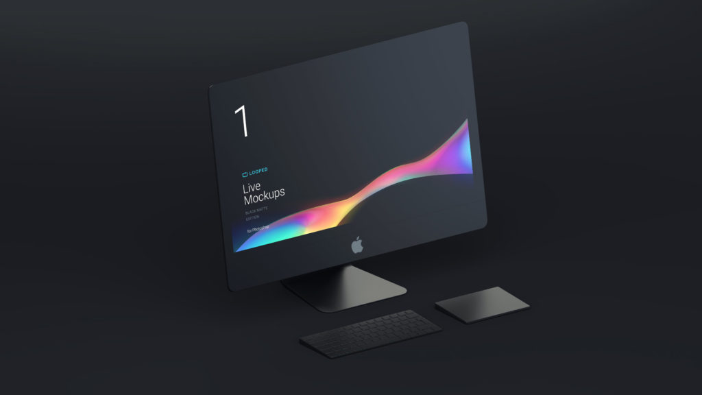 Black Matte Apple Devices Bundle free PSD