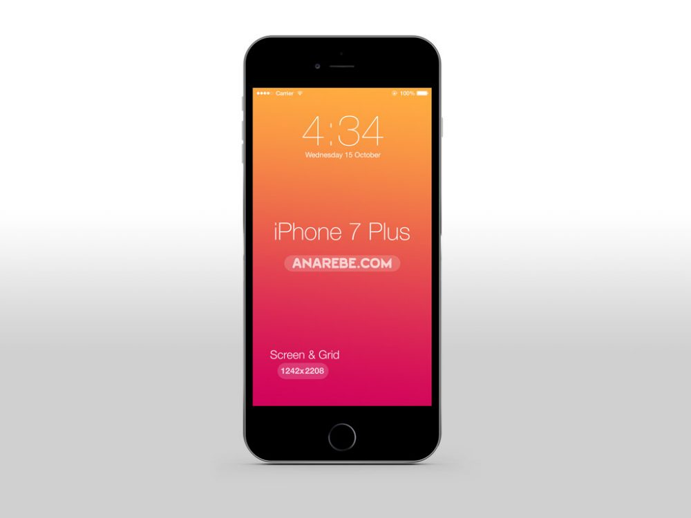 Clean iPhone 7 Plus free PSD