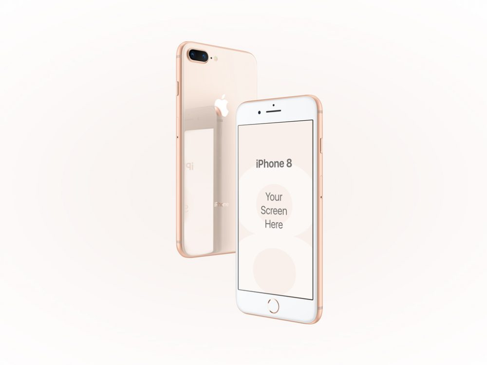 iPhone 8 Gold  free PSD