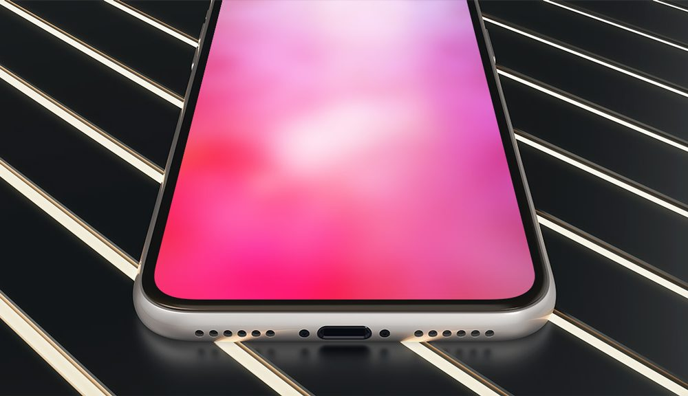 iPhone X Bottom Perspective free PSD
