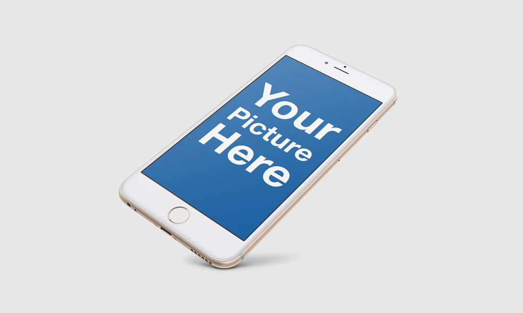 Set of floating iPhone free PSD