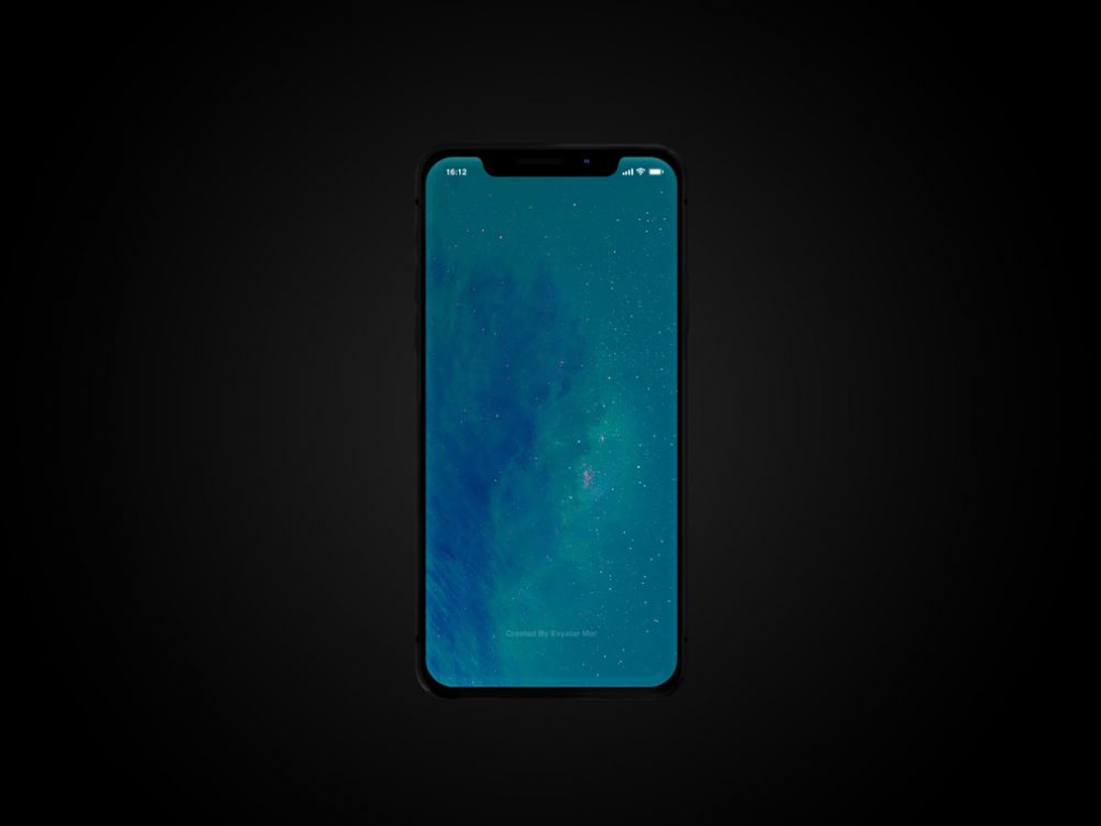 Clean iPhone X free PSD