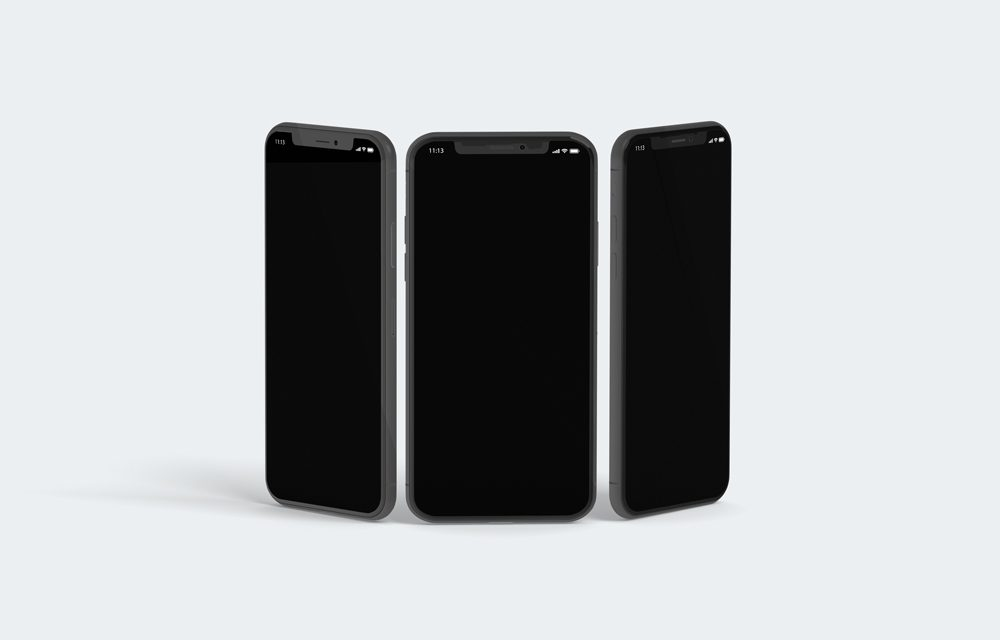 iPhone X (three devices) free PSD