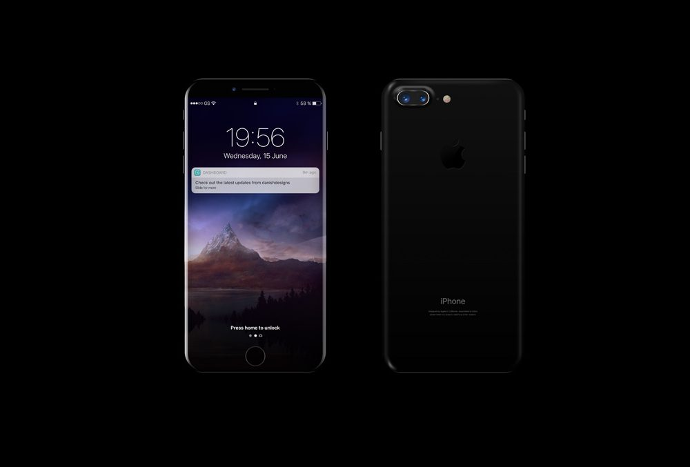 Black iPhone 8 free PSD