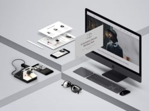 Isometric Devices Showcase free PSD