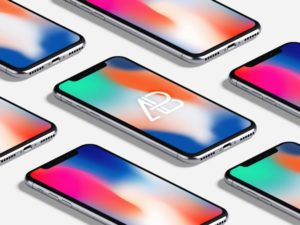 Isometric iPhone X free PSD