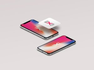 Isometric View iPhone X free psd