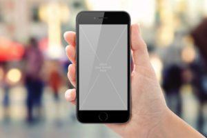 Black or white iPhone in female Hand free PSD