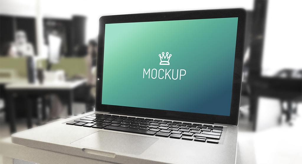 MacBook and iPhone in Office free PSD