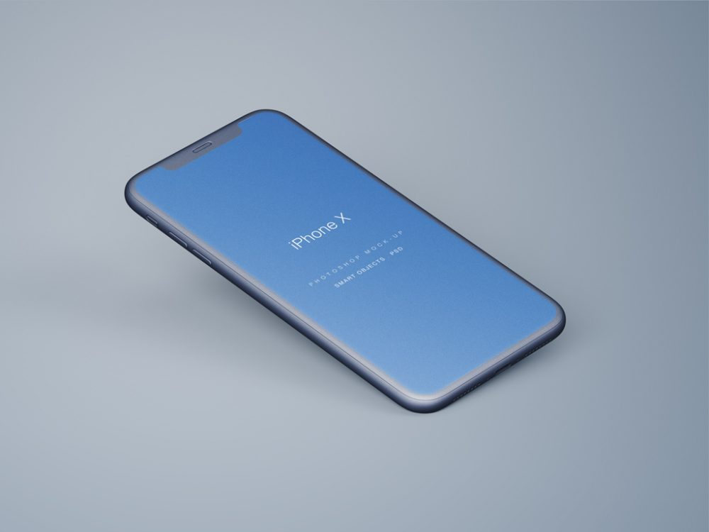 Perspective iPhone X free PSD
