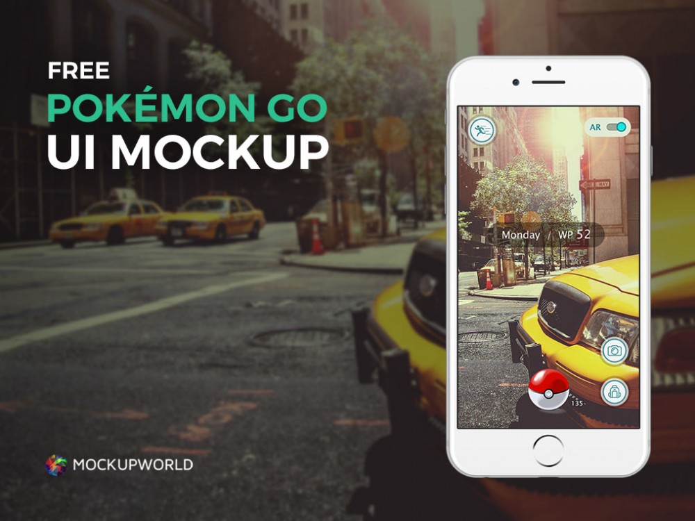 Pokémon Go UI iPhone (Exclusive)  free PSD