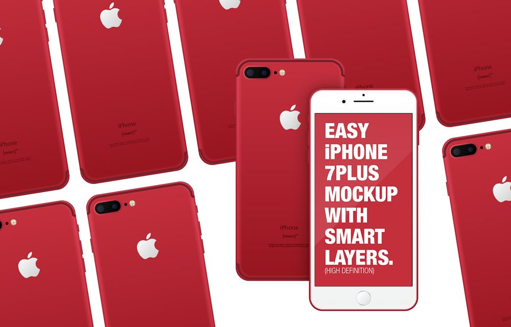 Product Red iPhone free PSD