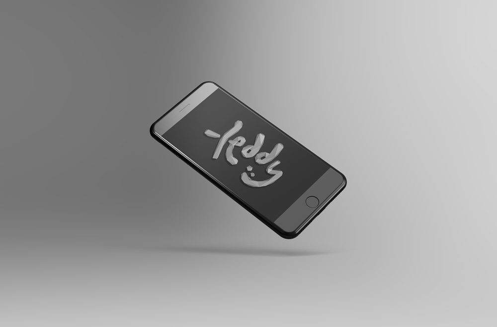 Tilted and floating iPhone free PSD