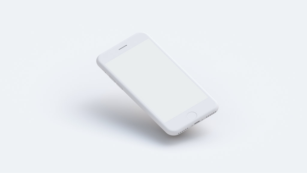 Set of white Clay iPhone free PDS