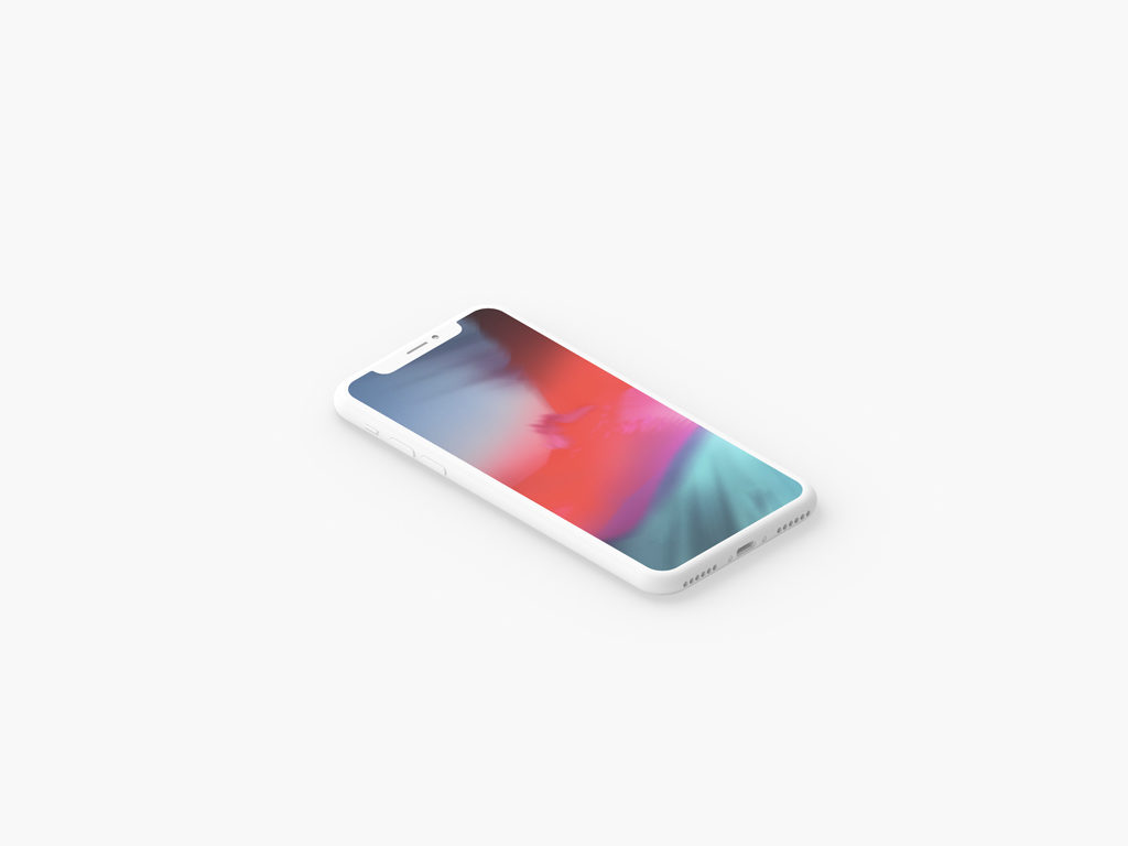 White Clay iPhone X Showcase Bundle free PSD
