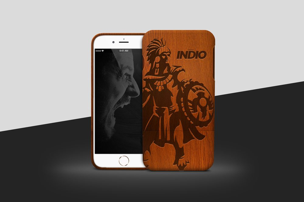 Wooden iPhone Case free PSD