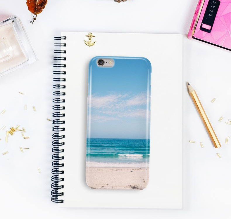 iPhone Case on Desk free PSD