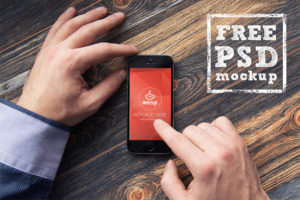 Top-view iPhone free PSD