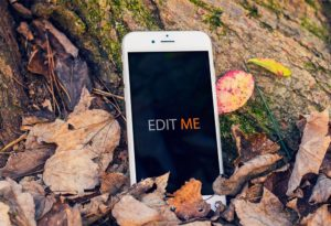 iPhone in autumn free PSD