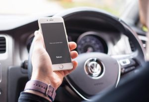 iPhone in Car free PSD