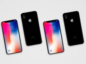 iPhone X (Front + Back) free PSD