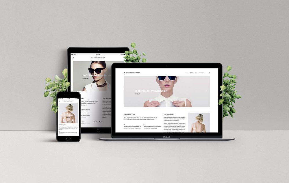 Responsive Web Design Showcase free PSD
