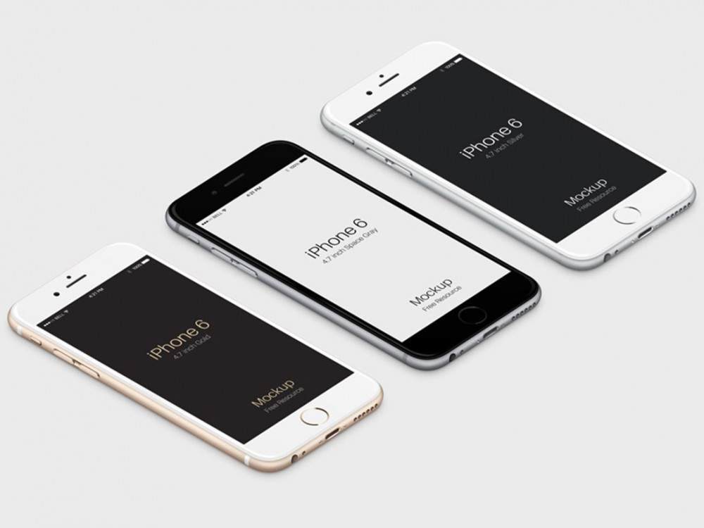3D iPhone 6 Plus PSD Vector free PSD Mockup